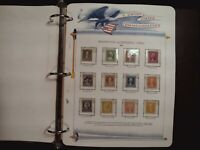 WHITE ACE US ALBUM OF ALL MINT STAMPS. 72 PAGES OF STAMPS. V