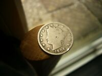 1906 LIBERTY V NICKEL EARLY U.S 5 CENT COIN