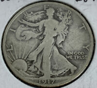 1917-S REVERSE WALKING LIBERTY HALF DOLLAR F DETAILS  COIN A SLOT