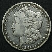 1896 S MORGAN SILVER DOLLAR - CLEANED