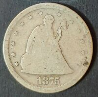 1875S LIBERTY SEATED TWENTY CENT PIECE