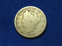 BEAUTIFUL U.S. SEMI KEY DATE 1884 LIBERTY V NICKEL IN COLLECTIBLE CONDITION 5S