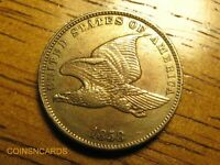 1858 FLYING EAGLE CENT SMALL LETTERS WITH ERRORS ABOUT UNCIR