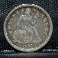 1841-O SEATED LIBERTY DIME  VF DETAILS  10C  FINE  NOW TRUSTED