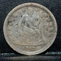 1842-P SEATED LIBERTY DIME  VF DETAILS  10C  FINE  NOW TRUSTED