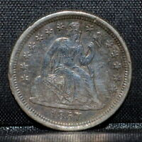 1857-O SEATED LIBERTY DIME  VF DETAILS  10C  FINE NEW ORLEANS TRUSTED