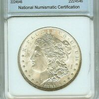 1881   MORGAN SILVER  DOLLAR APPEARS A SENSATIONAL GEM