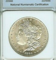 1881-O MORGAN SILVER DOLLAR APPEARS A GEM UNCIRCULATED DEEP MIRROR PROOF LIKE