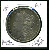 1900 P AU MORGAN DOLLAR 90 SILVER ABOUT UNCIRCULATED COMBINE SHIP$1 COINWC1434