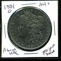 1881 O AU MORGAN DOLLAR 90 SILVER ABOUT UNCIRCULATED COMBINE SHIP$1 COINWC1424