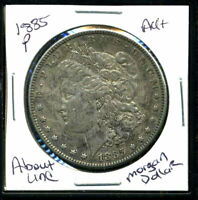 1885 P AU MORGAN DOLLAR 90 SILVER ABOUT UNCIRCULATED COMBINE SHIP$1 COINWC1372