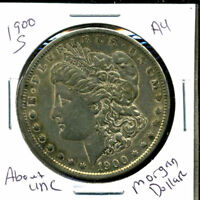 1900 S AU MORGAN DOLLAR 90 SILVER COIN ABOUT UNCIRCULATED COMBINE SHIP$1 C1356