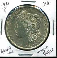 1921 P AU MORGAN DOLLAR 90 SILVER COIN ABOUT UNCIRCULATED COMBINE SHIP$1 WC918