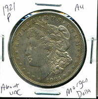 1921 P AU MORGAN DOLLAR 90 SILVER COIN ABOUT UNCIRCULATED COMBINE SHIP$1 WC831