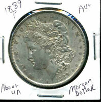 1889 P AU MORGAN DOLLAR 90 SILVER COIN ABOUT UNCIRCULATED COMBINE SHIP$1 WC873