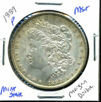 1889 P BU MORGAN DOLLAR UNCIRCULATED SILVER MINT STATE COMBINE SHIP$1 COINWC860
