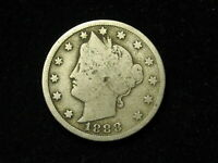 BEAUTIFUL U.S. SEMI KEY DATE 1888 LIBERTY V NICKEL IN COLLECTIBLE CONDITION 35S