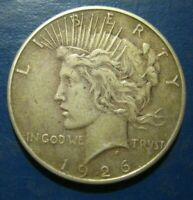 1926-S PEACE SILVER DOLLAR VF SCRATCHED REVERSE