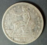 1873 TRADE DOLLAR IN EXTREMELY FINE CONDITION