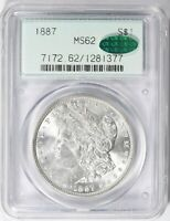 1887 P MORGAN SILVER DOLLAR $1 PCGS & CAC MINT STATE 62 OGH 2ND GEN SHIPS FREE