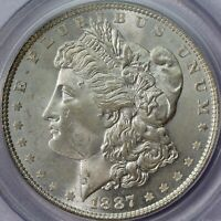1887 MORGAN SILVER DOLLAR PCGS MINT STATE 64 CAC OGH