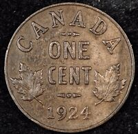 CANADA CENT NIGHT   HIGH GRADE  DATE 1924 GEORGE V SMALL CEN