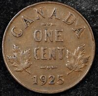 CANADA CENT NIGHT   HIGH GRADE KEY DATE 1925 GEORGE V SMALL