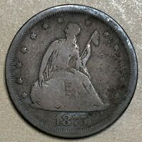 1875 S SEATED LIBERTY SILVER TWENTY CENT PIECE   ESTATE SALE