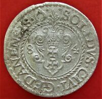 SILVER MEDIEVAL COIN SOLID 1584. STEPHEN BTHORY  1576 1586