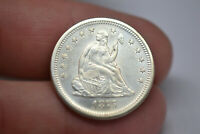 1875 S SEATED LIBERTY QUARTER  AWESOME LUSTER AND DETAILS  C