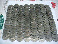 LOT OF 120  CANADA  NICKEL  1 $  ONE  DOLLAR  COINS   SEE PHOTOS   LOT B