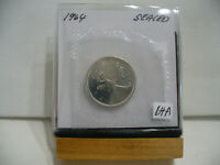 1964  CANADA SILVER QUARTER  DOLLAR TOP GRADE    64A  PROOF LIKE  SEALED