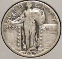 STANDING LIBERTY QUARTER - 1929-D - HISTORIC SILVER - $1 UNLIMITED SHIPPING.