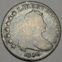 1806 DRAPED BUST HALF DOLLAR GOOD DETAILS G EARLY SILVER 50C O-120 VARIETY COIN