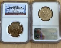 2013 P PRESIDENT WOODROW WILSON $1 NGC MINT STATE 68 ANNUAL DOLLAR COIN SET