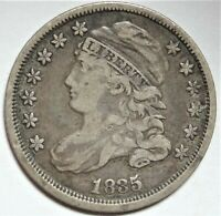 1835 CAPPED BUST DIME CHOICE  FINE VF EARLY SILVER 10C TYPE COIN