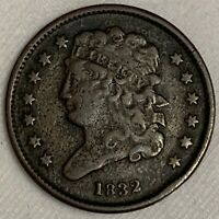 1832 CLASSIC HEAD HALF CENT   TYPE COIN  LOW MINTAGE ONLY 51,000 L308