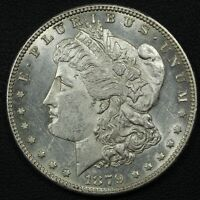 1879 S REVERSE OF 1878 MORGAN SILVER DOLLAR - CLEANED