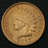 1897 INDIAN HEAD CENT COPPER PENNY - CLEANED