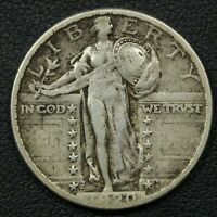 1920 S STANDING LIBERTY SILVER QUARTER