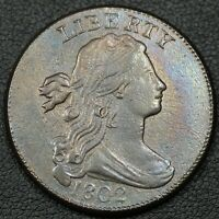 1802 DRAPED BUST COPPER LARGE CENT - CORRODED