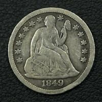 1849 SEATED LIBERTY SILVER DIME