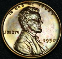1950 PROOF LINCOLN WHEAT CENT COPPER PENNY