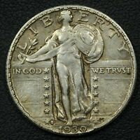 1930 S STANDING LIBERTY SILVER QUARTER
