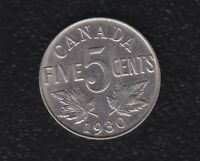 CANADA 5 CENTS 1930