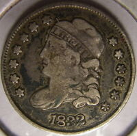 1832 CAPPED BUST HALF DIME  OLD SILVER COIN