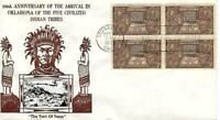 THE FIVE CIVILIZED INDIAN TRIBES ISSUE 972 FDC CROSBY CACHET