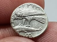 MUSEUM QUALITY  ANCIENT GREEK COIN SILVER STATER OF ISTROS/T