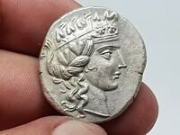 STUNNING  ANCIENT GREEK SILVER COIN TETRADRACHM OF SOTIROS 1
