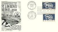 ST LAWRENCE SEAWAY ISSUE 1131 COMBO FDC FLEETWOOD CACHET B38